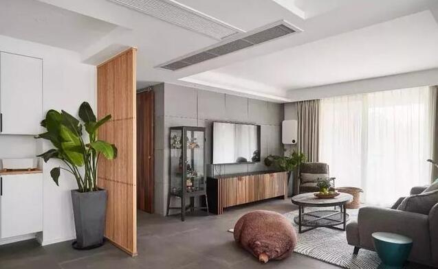 127平米现代简约三居室玄关装修