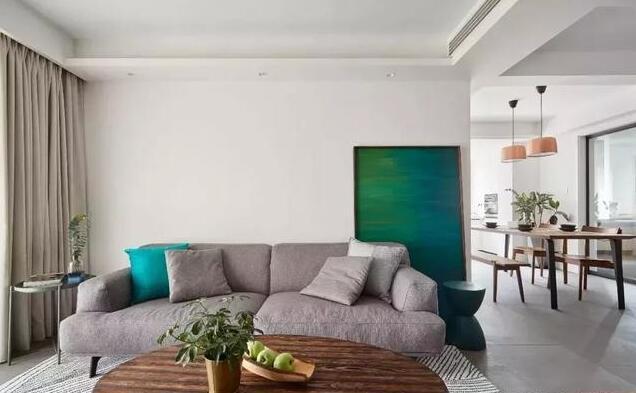 127平米现代简约三居室沙发背景墙装饰
