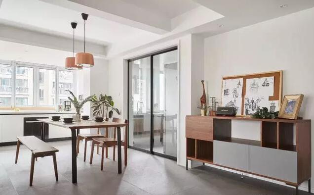 127平米现代简约三居室装修