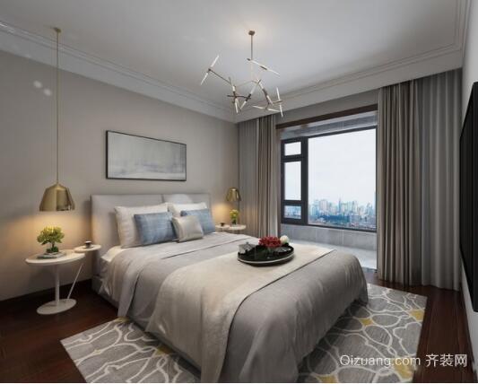 120平米现代简约风格卧室装修