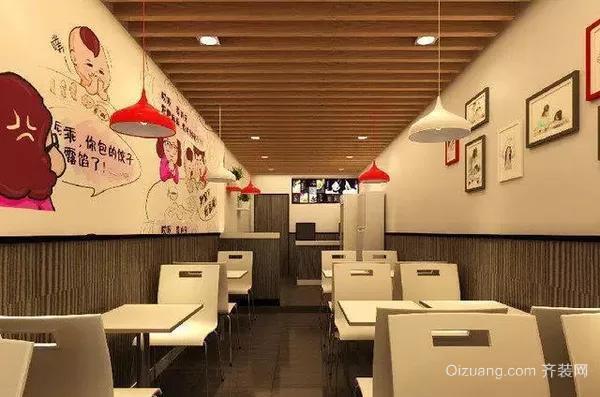 天津塘沽小面积餐饮店装修案例