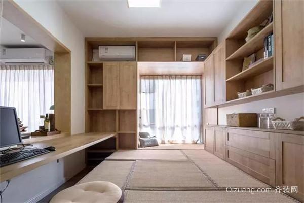 原木现代风书房设计
