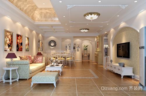 宿州恒大名都三居室简约装修设计