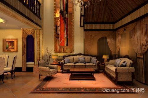 苍南别墅装修客厅整体空间设计