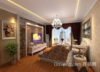 长兴中央花园90平米房屋装修地中海风格