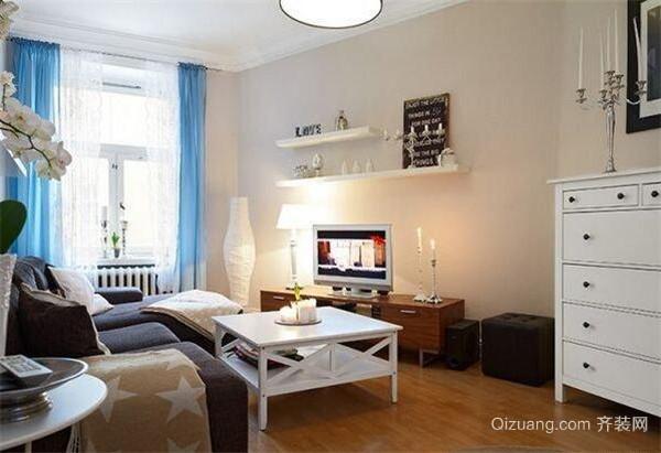 公寓样板间客厅设计效果图