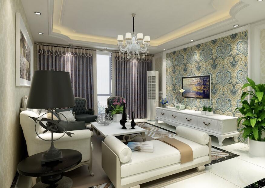 装修客厅墙布颜色选择