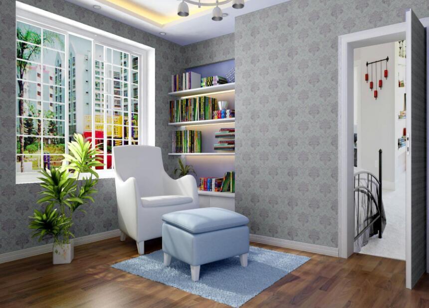 装修客厅墙布颜色搭配
