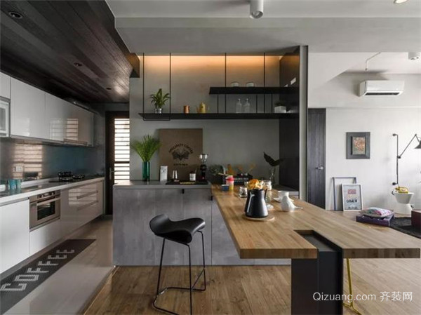 130平米花8万精装厨房图