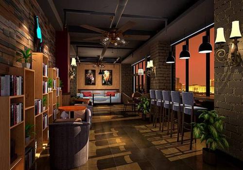 兴化咖啡厅装修风格效果图