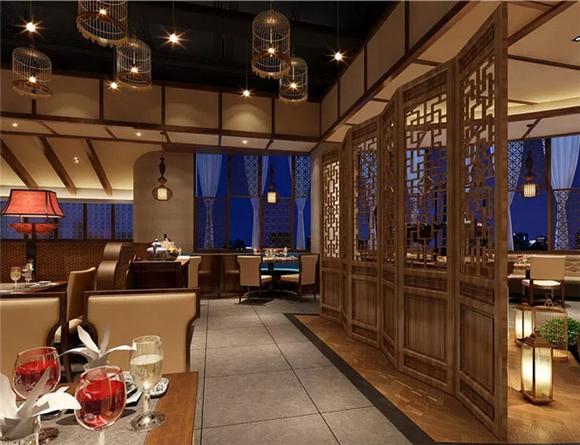中式餐厅中厅设计