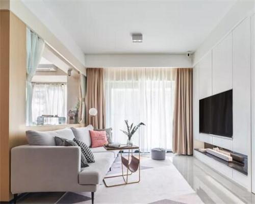 单身公寓客厅装修效果图