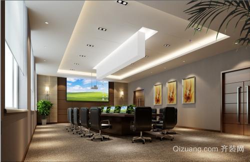 姜堰会议室装修设计古典大气风格