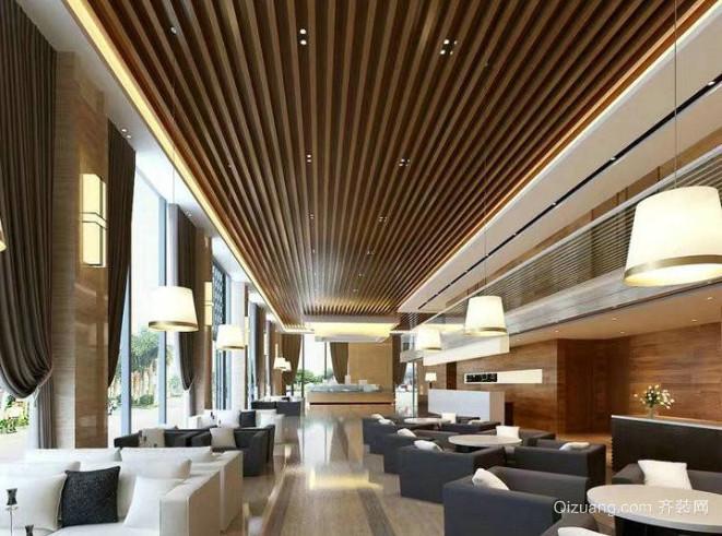 酒店生态木吊顶效果图