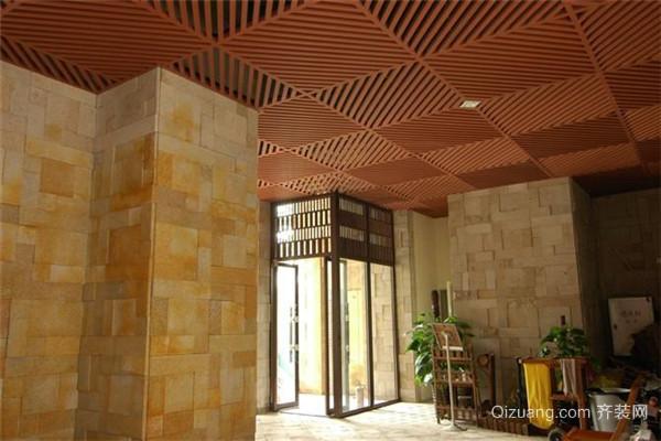 大厅生态木吊顶效果图
