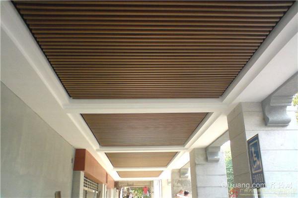 室外走廊生态木吊顶效果图