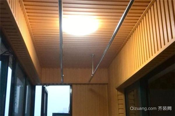 阳台生态木吊顶效果图