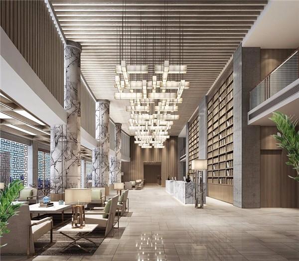 南京酒店大堂设计效果图