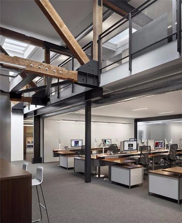loft风格复式写字楼装修设计效果图