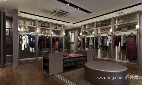 广州服装店面装修省钱之仿木地板