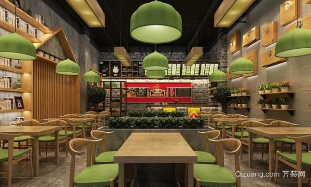 中式快餐店空间设计效果图