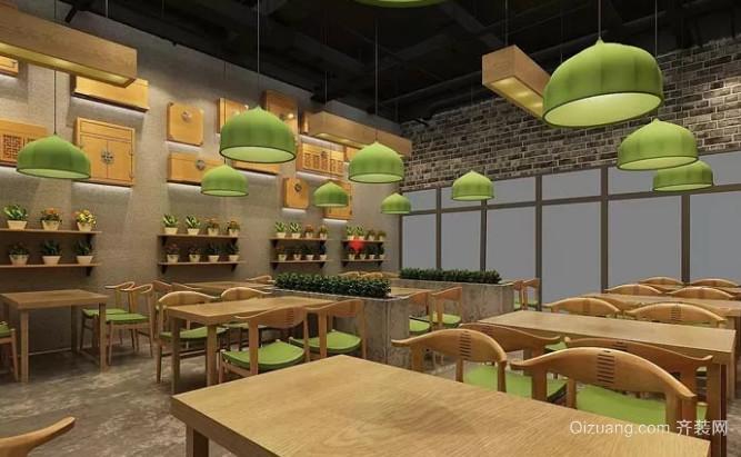 中式快餐店墙面设计效果图