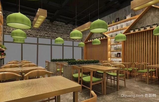 中式快餐店餐桌设计效果图