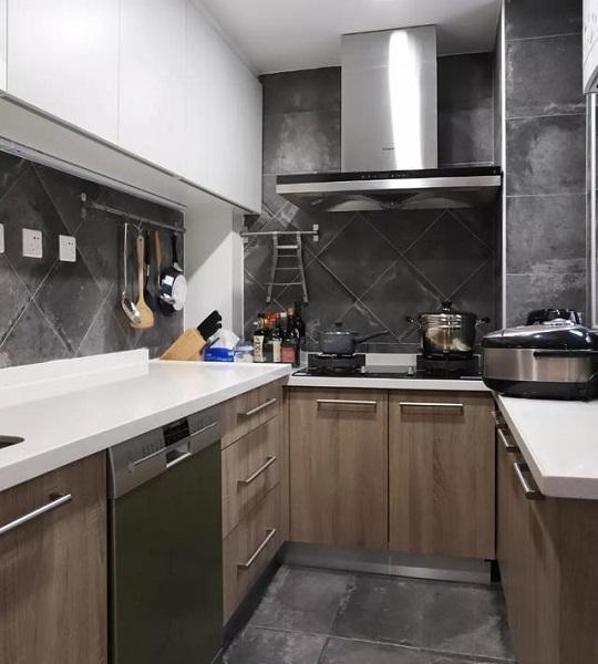 80平米旧房改造2万元翻新厨房效果图