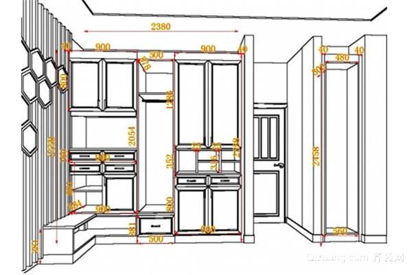 多功能组合衣柜尺寸