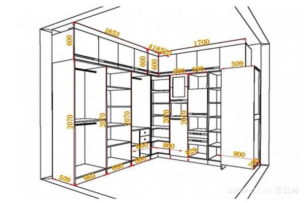 转角衣柜设计尺寸