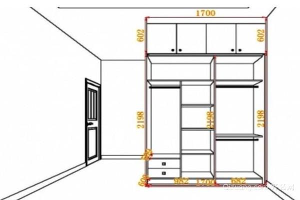 双人卧室衣柜尺寸