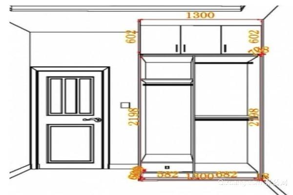 单人卧室衣柜尺寸