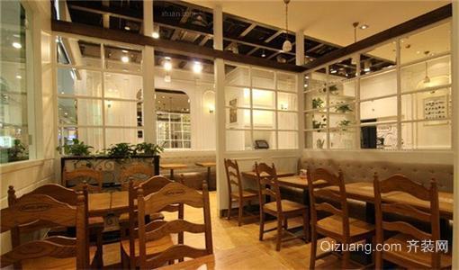 咖啡店装修田园风格设计效果图