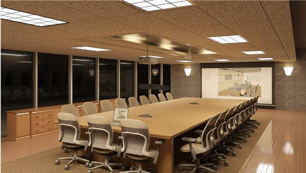 南京会议室装修设计效果图