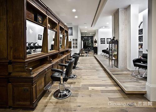 美发店装修中式风格设计效果图