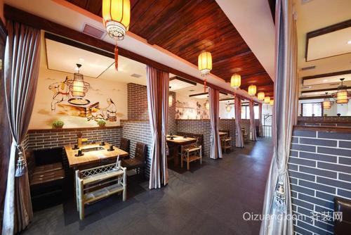 餐饮店装修设计古典风格效果图