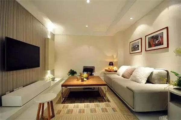 绍兴南池鉴园69平米小户型装修客厅效果图