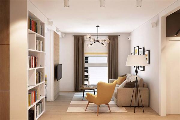 10来万装修套内65平米小户型客厅效果图