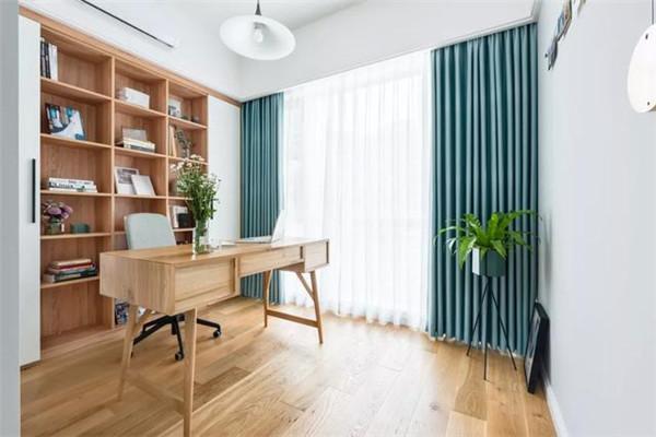 90平米婚房简约装修书房效果图