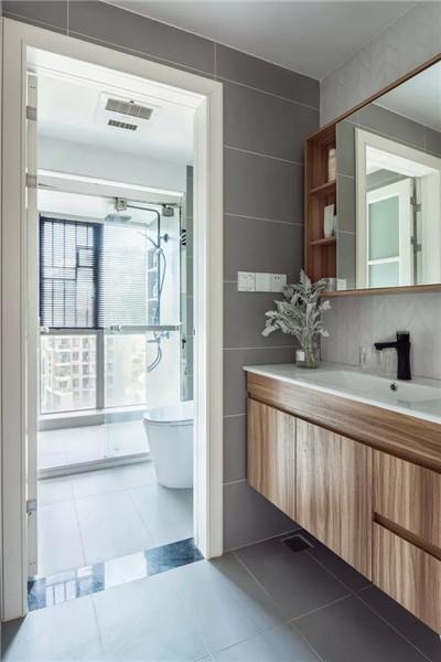 90平米婚房简约装修卫生间效果图