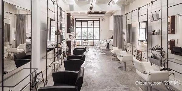 小型美发店40平米装修效果图