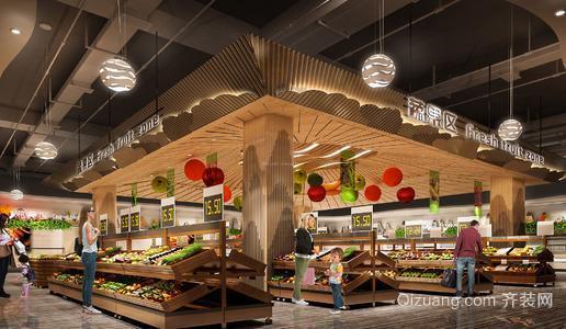 诸暨超市装修天然田园风格效果图