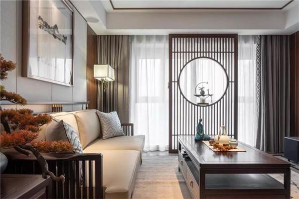 绍兴140平米新中式风格装修客厅效果图
