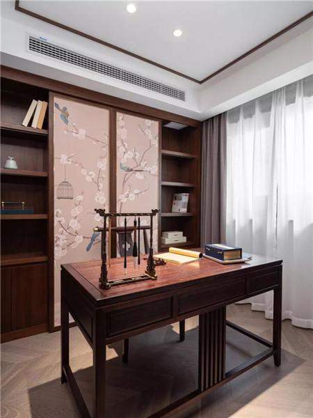 绍兴140平米新中式风格装修书房效果图