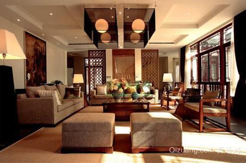中式别墅装修案例1