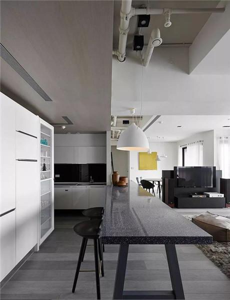 181平米三居室装修吧台效果图