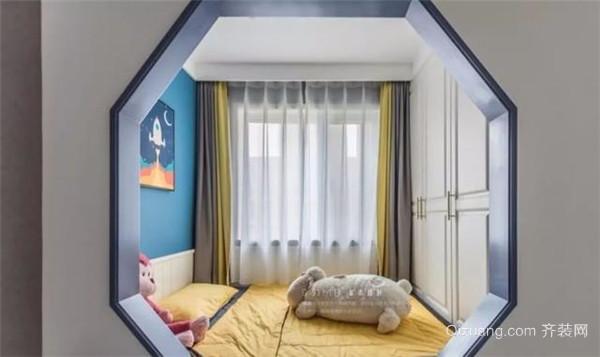 梧州88平小三房简装儿童房效果图