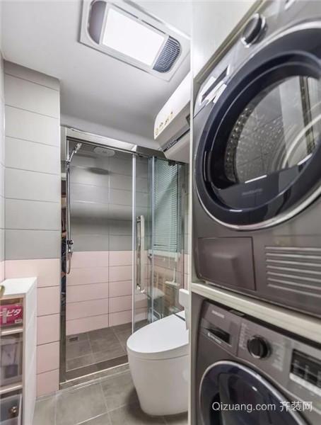 梧州88平小三房简装卫生间效果图