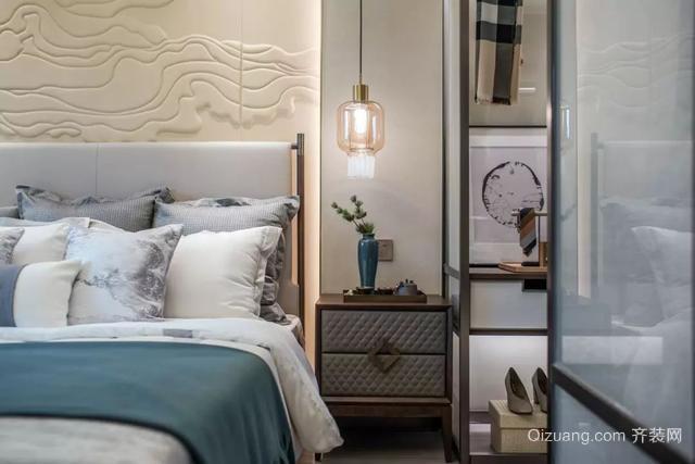 现代中式风卧室装修案例