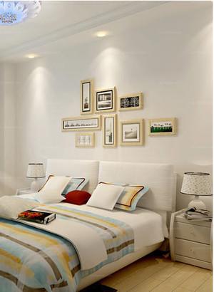 一室一厅小户型卧室背景照片墙装修效果图